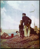 Outward Bound Mounted Print by Norman Rockwell