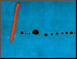 Blue II, c.1961 Mounted Print by Joan Miró