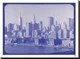 New York City In Winter VI In Colour Stretched Canvas Print by  British Pathe