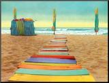 Beach Walk Mounted Print by Robin Renee Hix