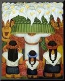 Flower Festival: Feast of Santa Anita, 1931 Lámina montada en tabla por Rivera, Diego