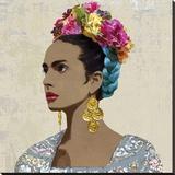 Corona de Flores Stretched Canvas Print by Mark Chandon