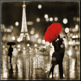 A Paris Kiss Mounted Print by Kate Carrigan