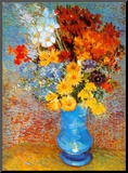 Vase of Flowers, c.1887 Mounted Print by Vincent van Gogh