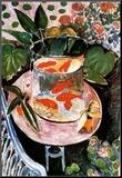 Goudvissen Kunst op hout van Henri Matisse