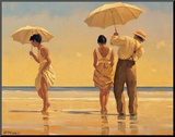 Mad Dogs Mounted Print by Jack Vettriano