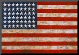 Flag, 1954-55 Opspændt tryk af Jasper Johns