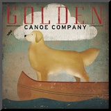 Golden Dog Canoe Co. Mounted Print by Ryan Fowler
