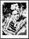 Portrait of Frida Kahlo Mounted Print