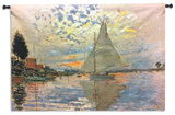Monet: Sailboat Wall Tapestry - Large *Exclusive* Tapiz