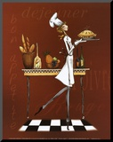 Sassy Chef I Mounted Print by Mara Kinsley