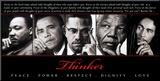 Thinker (Quintet): Peace, Power, Respect, Dignity, Love Montert trykk