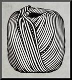 Ball of Twine, Garnnøgle, 1963 Monteret tryk af Roy Lichtenstein