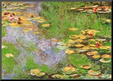 Water Lily Pond at Giverny Mounted Print by Claude Monet