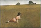 Christina's World Monteret tryk af Andrew Wyeth