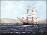 The Barque Annie Johnson Mounted Print by Henry Scott
