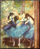 Dancers in Blue, c.1895 Mounted Print by Edgar Degas