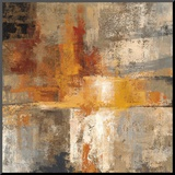 Silver and Amber Crop Mounted Print by Silvia Vassileva