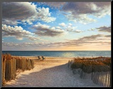 Sunset Beach Mounted Print by Daniel Pollera