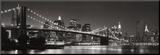 Brooklyn Bridge and Manhattan Skyline Mounted Print by Graeme Purdy