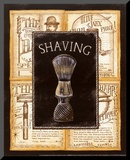 Grooming Shaving Mounted Print by Charlene Audrey