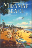 Miramar Beach, Montecitos Mounted Print by Kerne Erickson