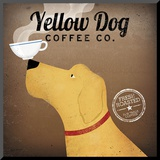 Yellow Dog Coffee Co. Mounted Print by Ryan Fowler