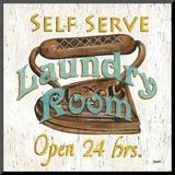 Laundry Room II Monteret tryk af Debbie DeWitt