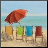Four Summer I Mounted Print by Carol Robinson