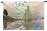 Monet: Sailboat Wall Tapestry - Small *Exclusive* Wall Tapestry