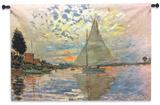Monet: Sailboat Wall Tapestry - Small Wall Tapestry
