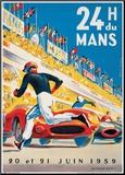 Le Mans 20 et 21 Juin 1959 Mounted Print by  Beligond