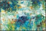 Falling Waters Aufgezogener Druck von Jack Roth