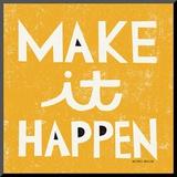 Make it Happen Mounted Print by Michael Mullan
