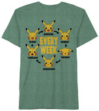 Pokemon- Pika Weekly T-shirts