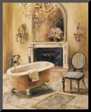 French Bath I Mounted Print by Marilyn Hageman