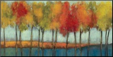 Lollipop Trees Mounted Print by Asia Jensen