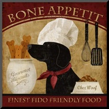 Bone Appetit Mounted Print by Conrad Knutsen