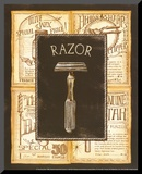Grooming Razor Mounted Print by Charlene Audrey