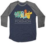 Pokemon- Classic Posse (Raglan) T-shirts
