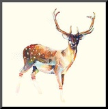 Deer Wearing Gym Socks Mounted Print by Charmaine Olivia