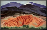 Black Mesa Landscape, Outside of Marie's Mounted Print by Georgia O'Keeffe