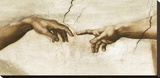 Creation of Adam, 1512 - Detail Stretched Canvas Print by  Michelangelo