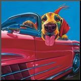 Dog About Town Mounted Print by Ron Burns