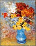 Bloemenvaas, ca.1887 Kunst op hout van Vincent van Gogh