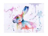 Hare Watercolour Poster di Sarah Stribbling