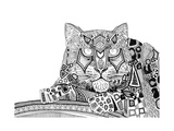 Snow Leopard (Variant 1) Prints by Sharon Turner