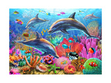 Dolphin Fun Posters af Adrian Chesterman