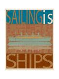 Sailing Is Titanic Model on Brown Prints by Joost Hogervorst
