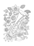 Musical Instrument Pattern 11 Prints by Neeti Goswami